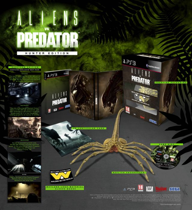 aliens vs predator limited edition box sets facehugger