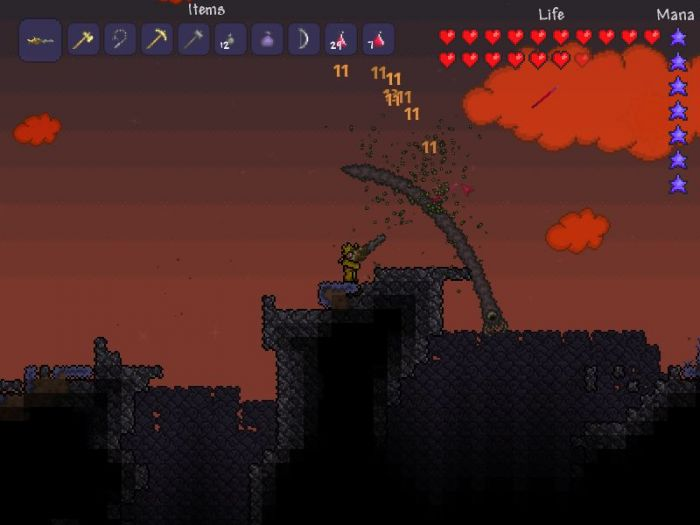 how to use the envorty on terraria on pc